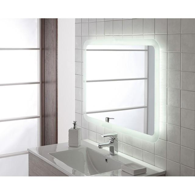 Specchio led retroilluminato satinato 70x100 mondobrico bagno - Specchio retroilluminato bagno ...