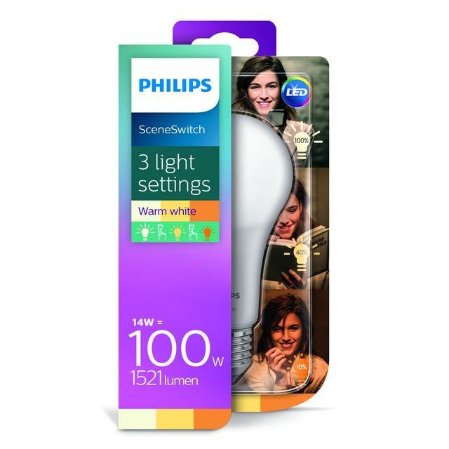 PHILIPS LED GOCCIA 100W E27 SCENE SWITCH 3 STEP