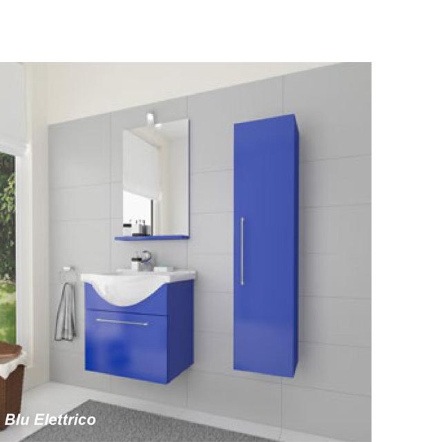 Composizione bagno blu lavabo specchiera mondobrico bagno - Specchiera bagno blu ...
