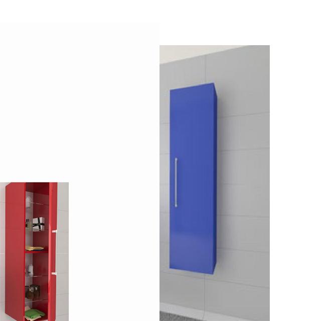 Colonna sospesa 1 anta dx blu elettrico ginevra for Arredo bagno elettrico