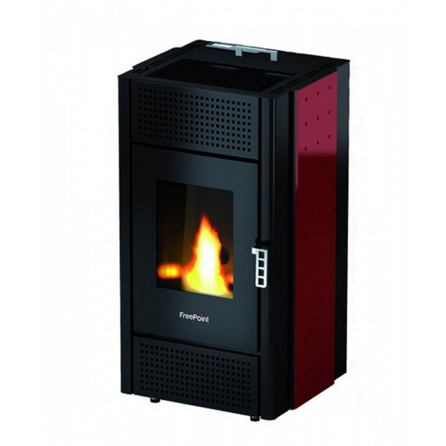 Stufa Pellet Pretty 8 5 Kw Rossa Freepoint | Super Offerta 649,00€
