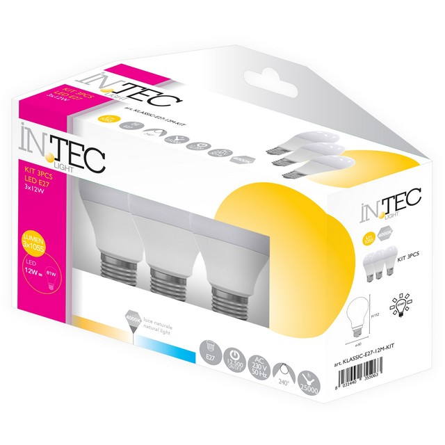 INTEC CF.3 LAMPADINE LED E27 12W