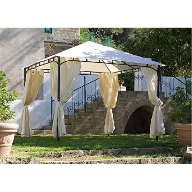 Gazebo rodi 3x3 con tende mondobrico arredo giardino for Gazebo arredo giardino