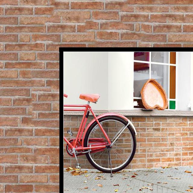 PIASTRELLA BRICK RED 31X62 PAVIMENTO MQ.1
