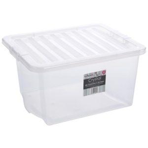 CRYSTAL 35LT BOX TRASP. TRASP. 49X39X26