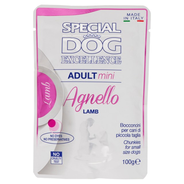 SPECIAL DOG EXCELLENCE BUSTE ADULT MINI AGNELLO GR.100