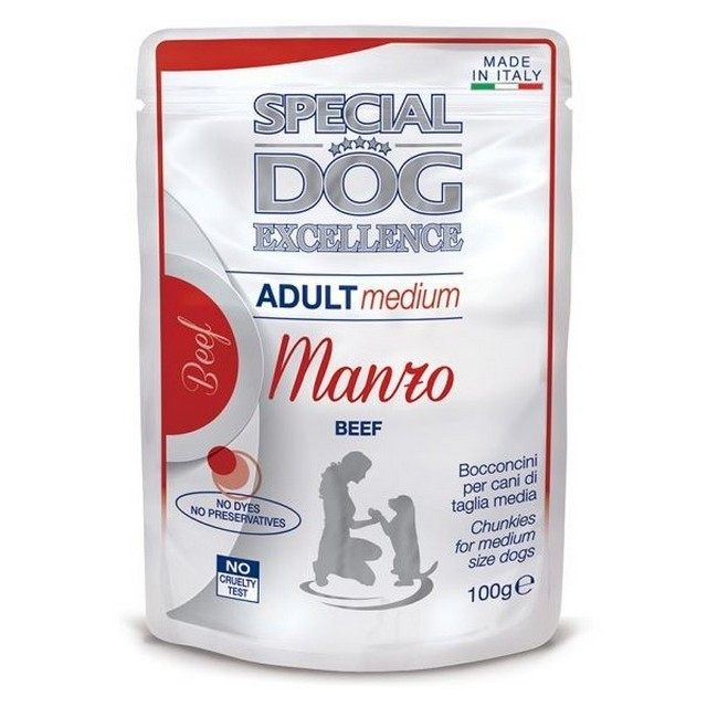 SPECIAL DOG EXCELLENCE BUSTE ADULT MEDIUM MANZO GR.100