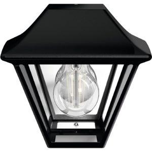 ALPENGLOW LAMPADA A MURO NERO IN ALLUMINIO 1 LUCE