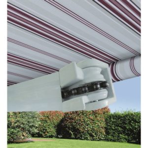 400X300 TENDA SOLE A BARRA QUADRA RIGATA BORDEAUX/CREMA