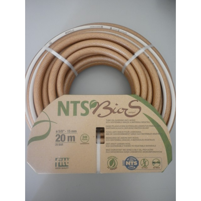 TUBO NTS BIOS  DIAM.5/8 MT 20  ECO SOSTENIBILE  ANTI PIEGA 20% DI ORIGINE VEGETALE