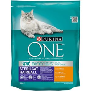 PURINA ONE STERILCAT HAIRBALL POLLO CERALE BIFENSIS