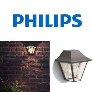 CURASSOW LAMPADA A MURO MARRONE PHILIPS