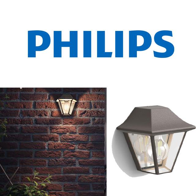 Illuminazione philips casa curassow lada a muro marrone - Philips illuminazione casa ...