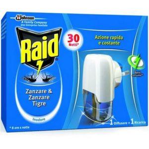 INSETTICIDA RAID 1 BASE + 1 RICARICA 30 NOTTI