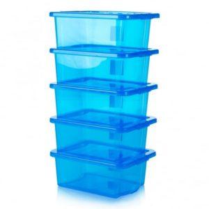 CRYSTAL BOX C/COP 33X43 H17 16LT BOXLID TRASP BLUE