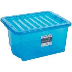 CRYSTAL BOX 60LT 60X40X33H BLU TRASP.