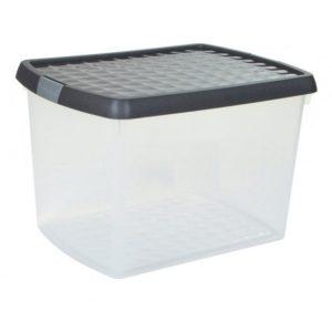 8.02 WHAM CLIP 21.5L BOX  LID CLEAR/MOCHA/SILVER