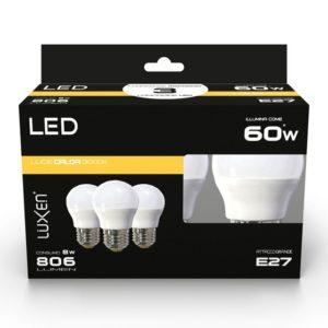 CF3 LAMP.LED SFERA 9W/60W E27 LUCE CALDA