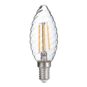 LAMPADINA LED TORTIGLIONE E14 40W 4W LUCE CALDA
