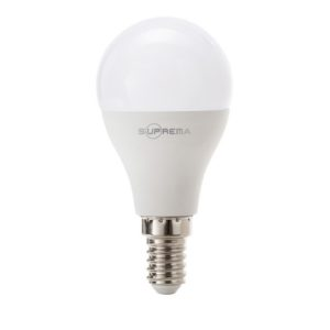 8W/60W LAMPADA LED SFERETTA E14 EQU. 60W LUCE BIANCA