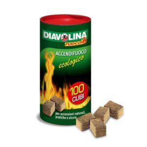 DIAVOLINA ACCENDIFUOCO ECOLOGICO 100 PEZZI