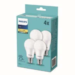 PHILIPS LED 4 LAMPADINE 75W