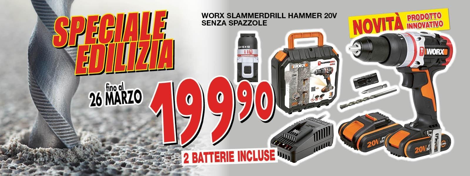 WORX SLAMMERDRILL HAMMER 20V