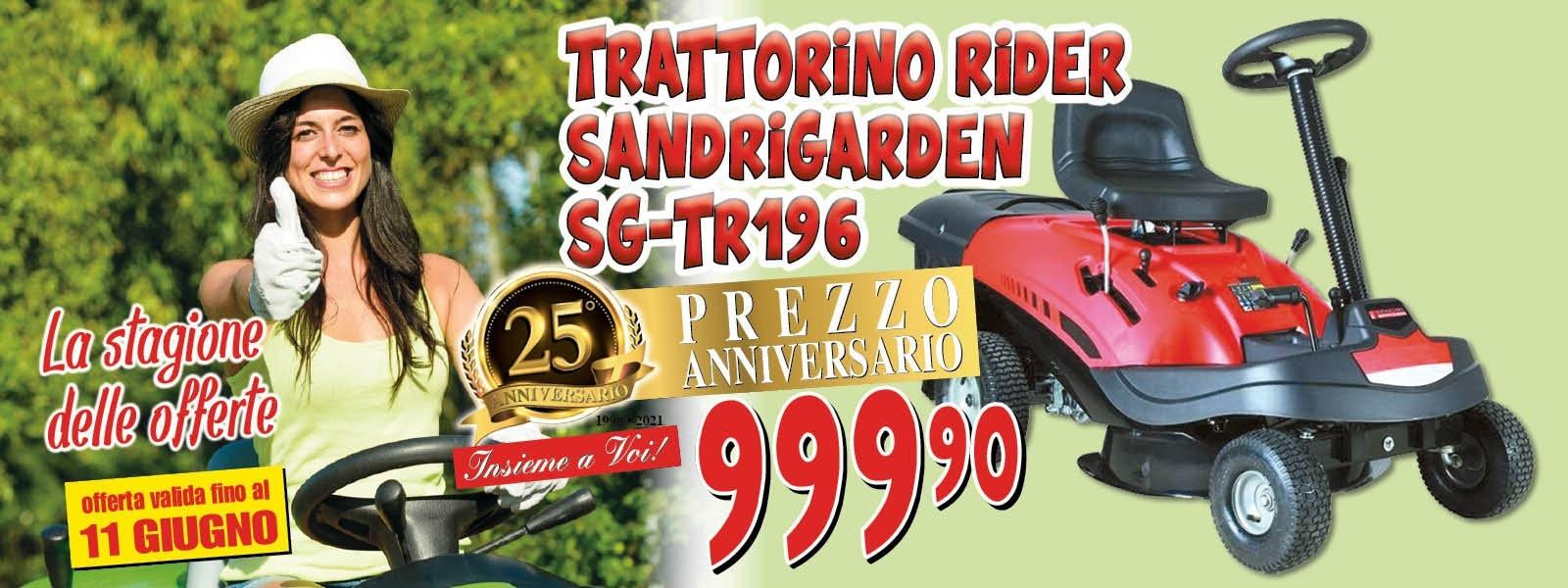 trattorino rider sandri garden