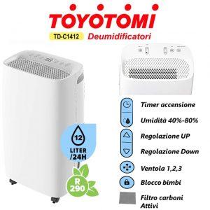 DEUMIDIFICATORE TOYOTOMI TD C1412