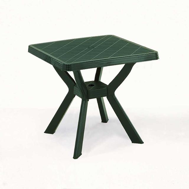 Tavolo plastica nilo verde 80x80 mondobrico arredo giardino - Tavoli in plastica da esterno ...
