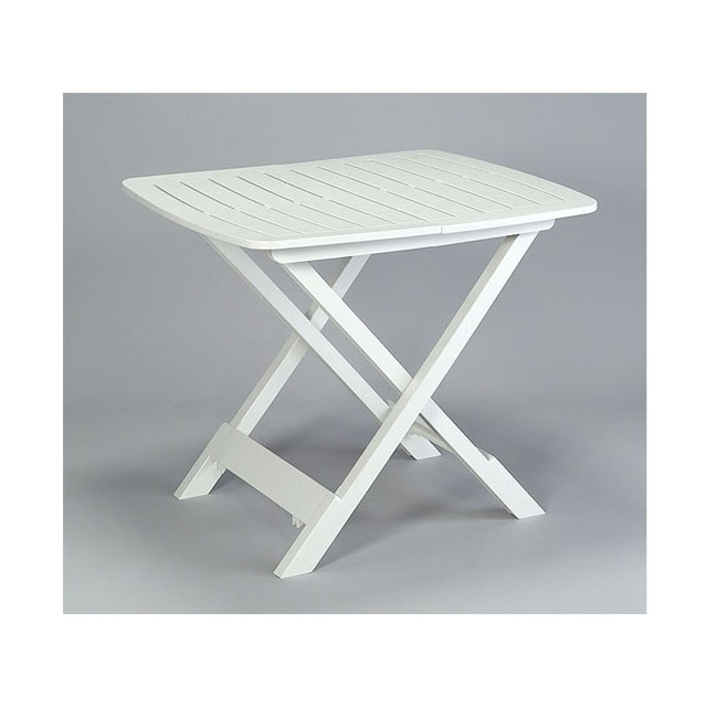 Tavolo tevere bianco mondobrico arredo giardino for Tavolo plastica pieghevole
