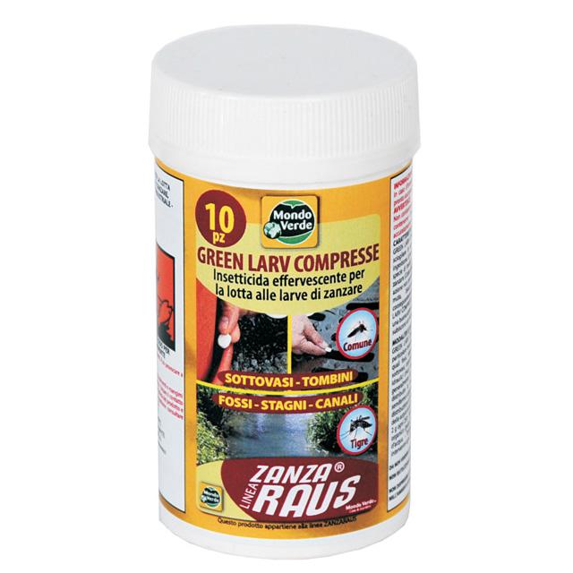 Fludex 10 compresse per larve e zanzare mondobrico for Larve zanzare