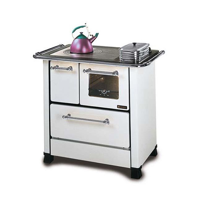 Stufa nordica cucica romantica 3 5 kw bianca mondobrico - Stufe a legna cucina ...