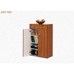 102 MOBILE 2 ANTE 1 CASSETTO CON GUIDE NOCE CM 103X61X34
