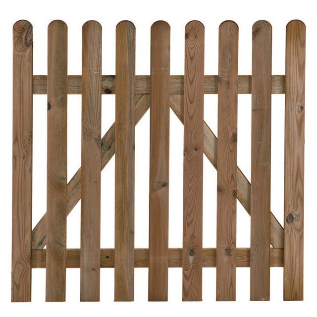 Cancello dritto in pino impregnato 1000x1000h mm mondobrico for Recinzioni in legno brico