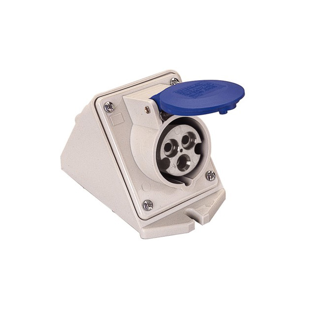 PRESA INCLINATA DA PARETE IEC309 16A 2P T 200 250V