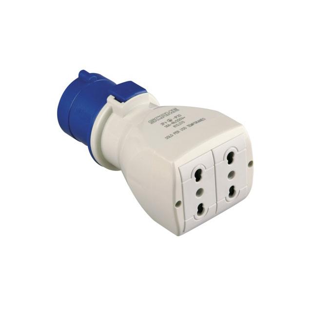 ADATTATORE 200 250V  SPINA IEC309 16A 2P T