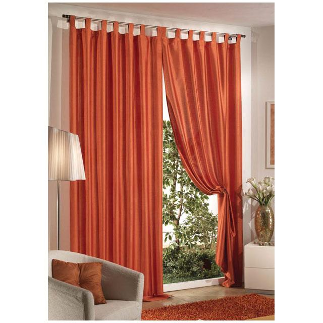 Tenda shantung 140x290 arancio mondobrico arredo casa for Arredo casa tende