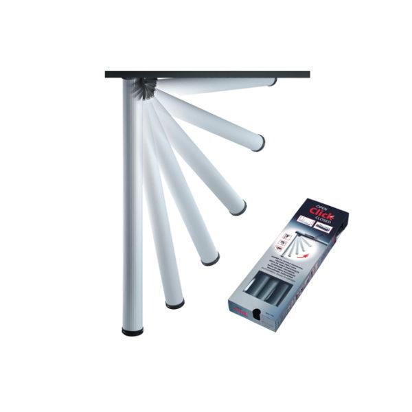 Gambe pieg h705mm miller alluminio pz 4 mondobrico centro fai da te - Feltrini mobili ...