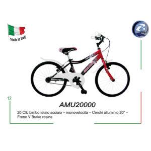 """BICICLETTA CITY BIKE UOMO GIANNI BUGNO 20"""" - AMU20000 (BAMBINO)"""