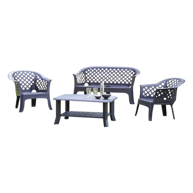 Set veranda senza cuscini antracite mondobrico for Salottini da giardino