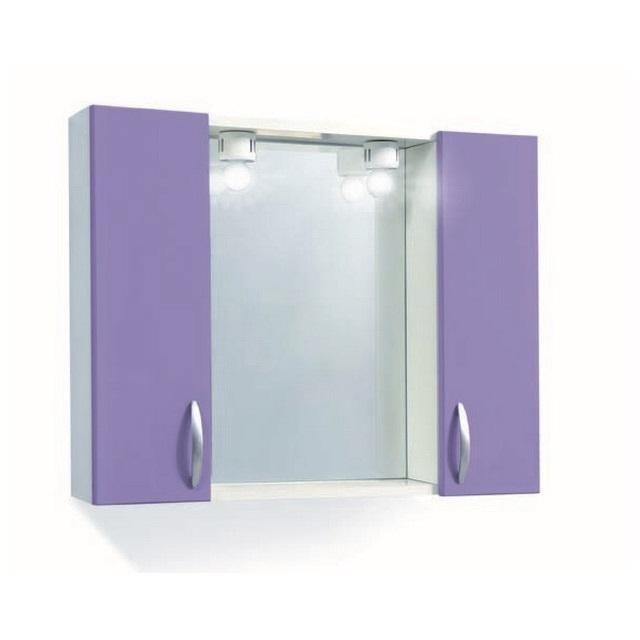 Specchiera bagno 2 ante lucide rossa mondobrico - Specchiera bagno blu ...