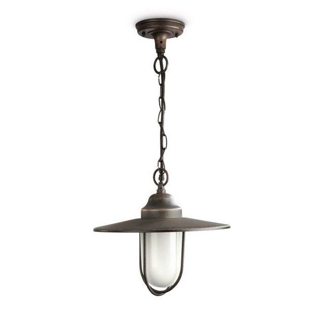 Lanterna a sospensione pasture philips alluminio ruggine - Philips illuminazione casa ...