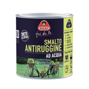 SMALTO ANTIRUGGINE ALL'ACQUA BIANCO BOERO 0.5L