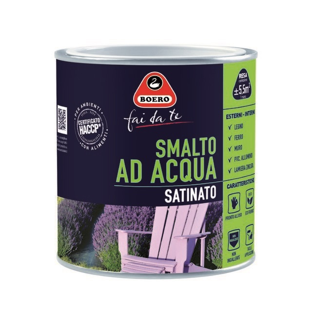 0.5L SMALTO SATINATO ALL'ACQUA VERDE CAPRI