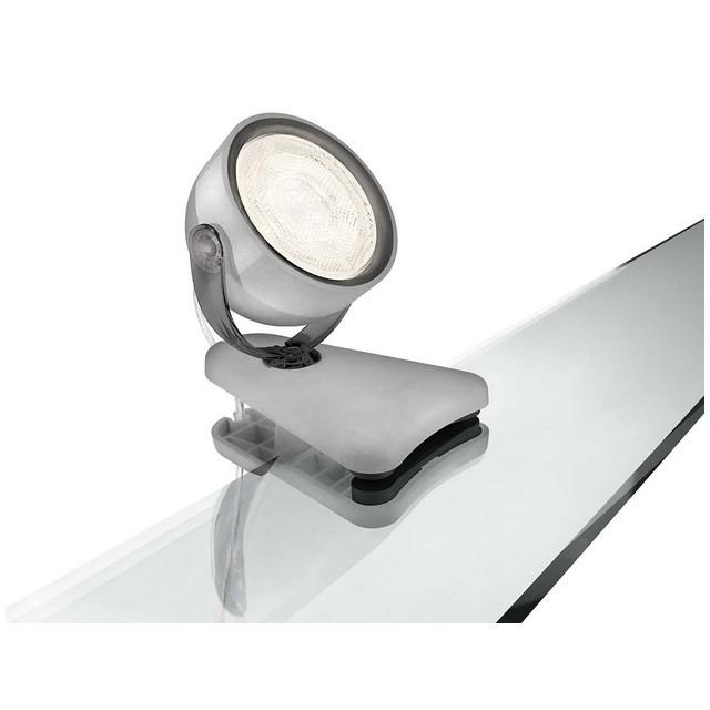Lampada Led Philips Dyna Clip Spot Grigio   Mondobrico -> Lampada Clip Led