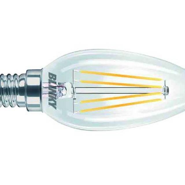 Lampadina led filamento e14 4w 330l luce calda for Lampadine led casa