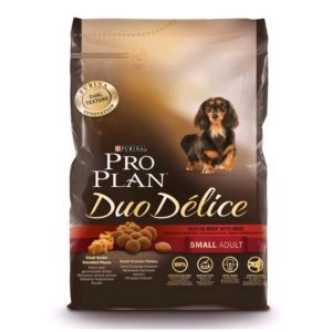 PRO PLAN DUO DELICE SMALL ADULT MANZO RISO 700 GR.