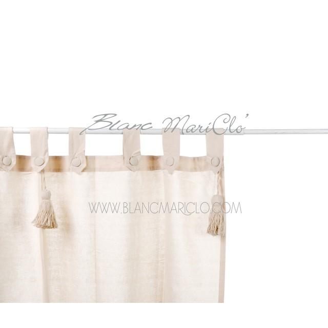 Tenda Lunga Basic Loops E Embrasse Natur Cm 150 Mondobrico