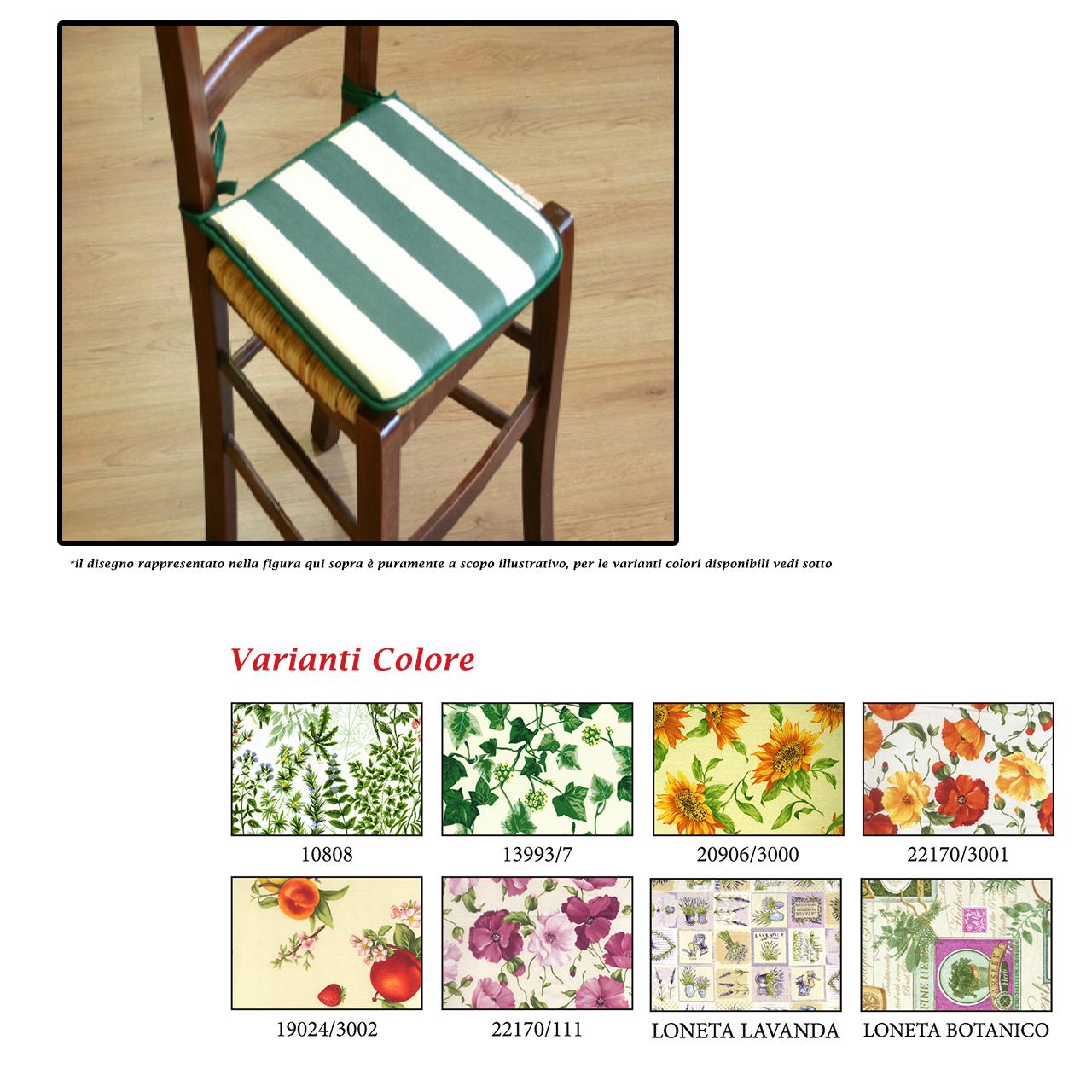 Cuscino sedia giardino silvia 40x40cm mondobrico for Cuscini x sedia